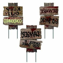 Liecho Pack of 3 Halloween Decorations Yard Signs Stakes Bew