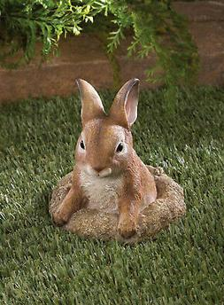 lifelike baby Bunny Rabbit outdoor yard garden lawn art deco