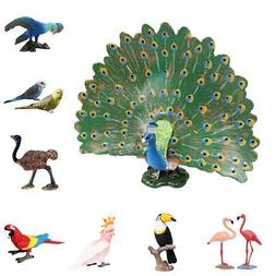 Lifelike Bird Ornament Figurine Resin Parrot Model Toys Home