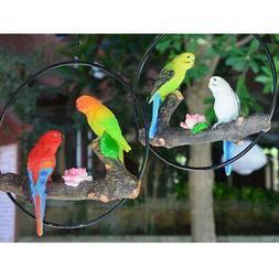 Lifelike Parrot Collectible Animal Figurine Statue Garden Ya