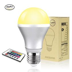 LED Light Bulb, Savvypixel 5W E26 RGB Color Changing LED Lam
