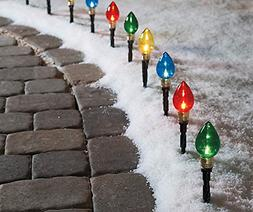 Multi-Color Light Bulb Pathway Markers, 11 Inch , 10 Pack