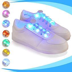 LED Light Up Shoelaces, 2win2buy 2 Pairs Luminous LED Shoe L