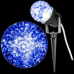 Gemmy Light Show LED Blue Projection Kaleidoscope for Outdoo