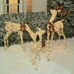 Holiday Time Light-Up Christmas Decor Set Of 3 Woodland-Look