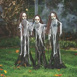 Light-Up Halloween Spooky Doll Yard Stakes - 5' Tall - Home
