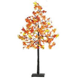 Lighted Autumn Maple Branch Tree