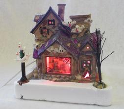 Lighted Halloween House Tabletop Decor NEW Ghost Galore + 2