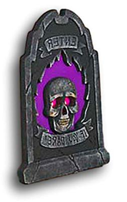 "Gerson 23"" Lighted Halloween Tombstones Yard Decor Scary Sku"