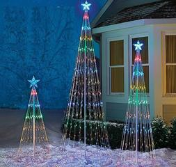 Lighted Led Tree Outdoor Christmas Holiday Decoration 4' 6'