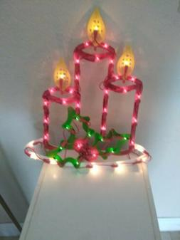 🌟Lighted Nativity Christmas Lighted Candles Outdoor Wall