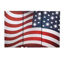 lighted patriotic panel american flag