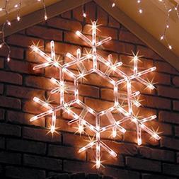 "Lighted Snowflake - 36"" LED Folding Outdoor Christmas Snowfl"