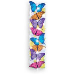Lighted Stacked Butterfly Garden Decor Yard Stake, by Collec