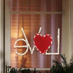 Lighted Valentine's Day Love Heart Window/Wall/Door/Yard Dec