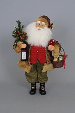 Karen Didion Lighted Wine Santa