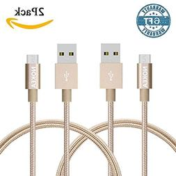 NOKEA 2 Pack 6FT  Lightning Cable Charging Cord Nylon Braide