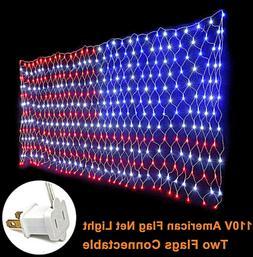 Lights Hanging Yard Decoration Patriotic Spirit USA, America