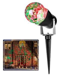 Gemmy LED Lightshow Kaleidoscope Projection Red & Green Spot
