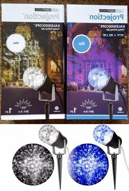 GEMMY LIGHTSHOW LED KALEIDOSCOPE PROJEcTION LIGHT ICY BLUE O