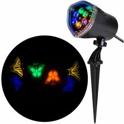 New Gemmy LED Lightshow Projector Blue Green Orange Yellow B