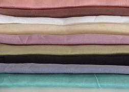 "Lightweight Ramie Linen Fabric 45"" Wide By The Yard-Clothing"