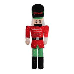 Northlight 6' Pre-Lit Candy Cane Lane 2-D Toy Soldier Christ