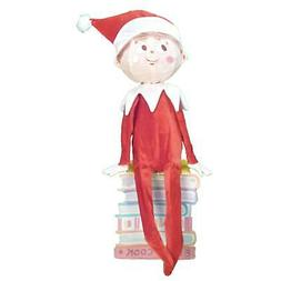 ProductWorks 24-Inch Pre-Lit Elf on a Shelf Christmas Yard D