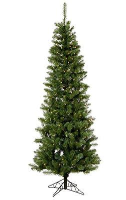 7.5' Pre-Lit LED Salem Pine Pencil Artificial Christmas Tree