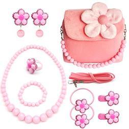 Elesa Miracle Little Girl Handbag Beauty Set Kids Plush Hand