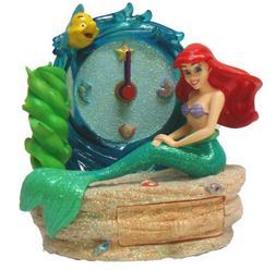 Little Mermaid Pen Holder w/Clock & Drawer