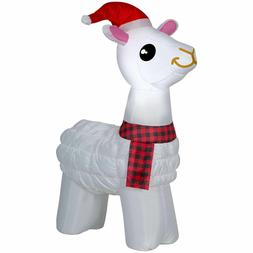 Llama Christmas Inflatable Airblown Yard Decor 3.5 Ft Tall G