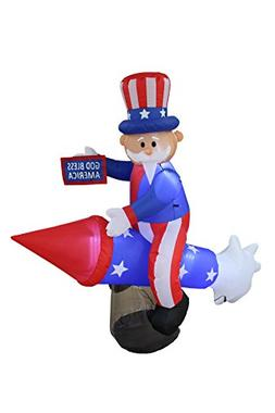 BZB Goods 6 Foot Long Lighted Patriotic Independence Day 4th