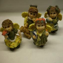 """Lot Of 12 Cherub Resin Figurines 4"""" Tall Figurine wholesale"""