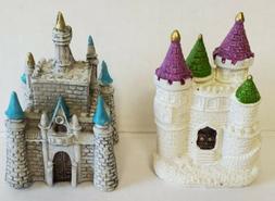 Lot Of 2 Mini Castles Resin Garden Decor Home Decor Decorati