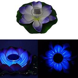Bleiou Lotus Flower Solar Power Light LED Multi-color Garden