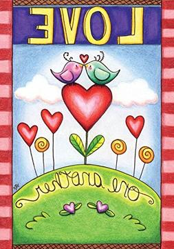 "Love One Another Valentine's Day Garden Flag 12.5"" x 18"" Bri"