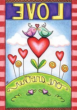 """Love One Another Valentine's Day Garden Flag 12.5"""" x 18"""" Bri"""