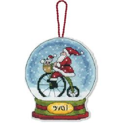 Love Snowglobe Counted Cross Stitch Kit-3.75x4.5 14 Count Pl