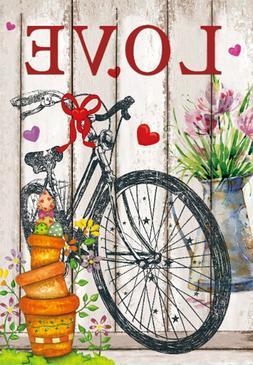 Morigins Love Valentine's Day Decor Flower Vase Bicycle Spri