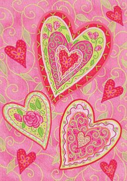 Toland Home Garden Lovely Hearts 12.5 x 18 Inch Decorative V