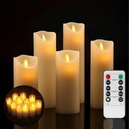 Luminara Flameless Candles Ivory LED Pillar Remote Control w