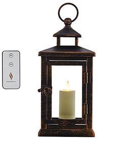 "Luminara Hudson 11"" Lantern with Flameless Votive Candle and"