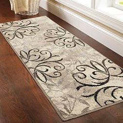 Lusciously Soft and Luxuriously Textured Iron Fleur Area Rug