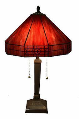 Warehouse of Tiffany Maeve Tiffany Style 2-Light Red Table L