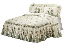 Magnolia Garden Floral Ruffle Skirt Lightweight Bedspread, b