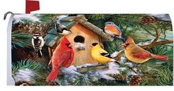 Mailbox Makeover - Pine Tree Birds - Magnetic Mailbox Cover