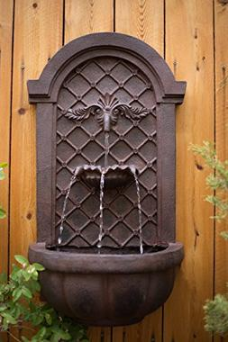 The Manchester - Outdoor Wall Fountain - Weathered Bronze -