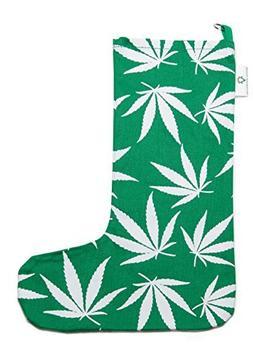 Marijuana Leaf Christmas Stocking