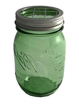 Mason Jar with Flower Frog Lid Insert Regular Mouth 16 Oz Bu